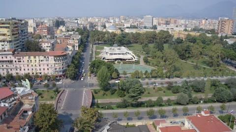 Tirana dall'alto