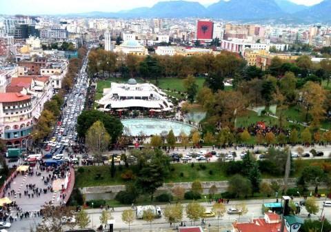 Tirana dall'alto - Albania.