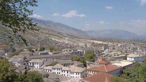 Vista della cittò di Girocastro - Albania.